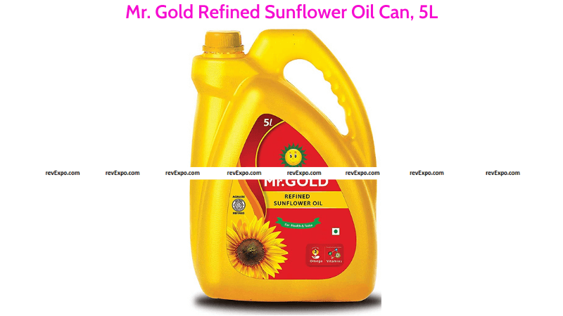 Mr. Gold Refined Sunflower Oil 5L Can