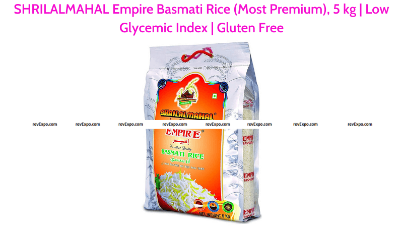 SHRILALMAHAL Empire 5 kg Basmati Rice with Low Glycemic Index