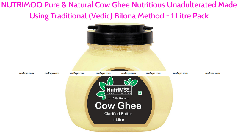 NUTRIMOO Pure & Natural Cow Ghee Nutritious Unadulterated 1 Litre Pack