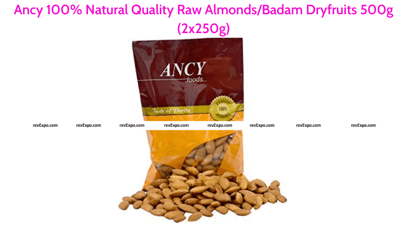 Ancy 100% Natural Almonds 500g