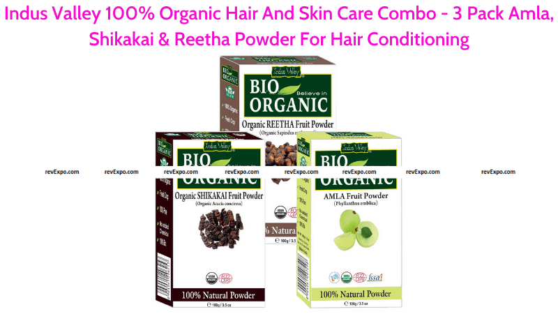 Indus Valley 100% Organic Hair And Skin Care Combo