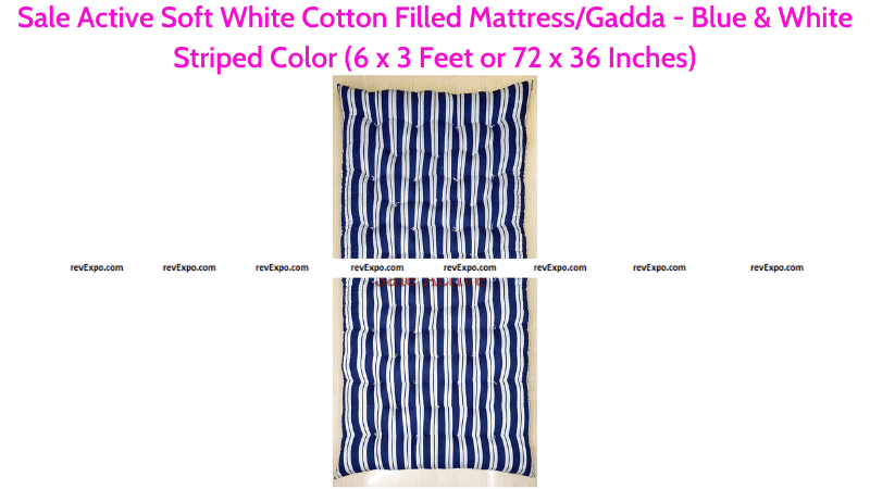 Sale Active Cotton Filled Floor Mattress 72 x 36 Inches