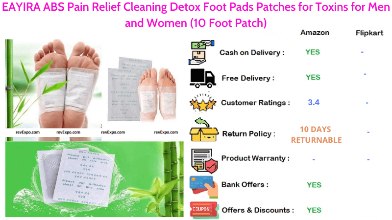 EAYIRA ABS Foot Pads Pain Relief Cleaning Detox