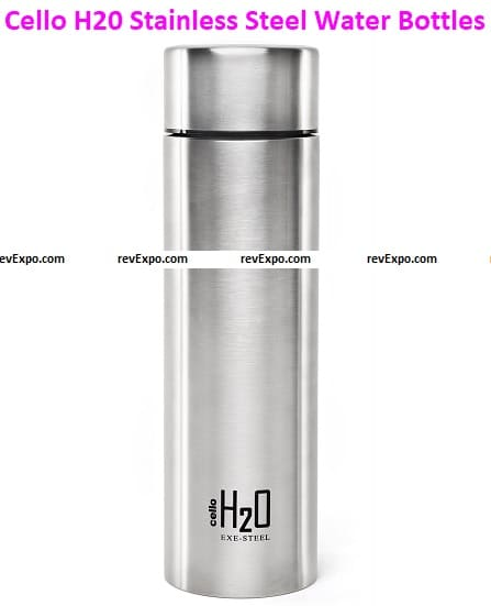 Cello H20 Stainless Steel Water Bottles