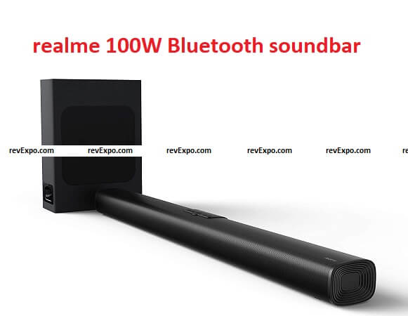 realme 100W Bluetooth soundbars with wired subwoofer