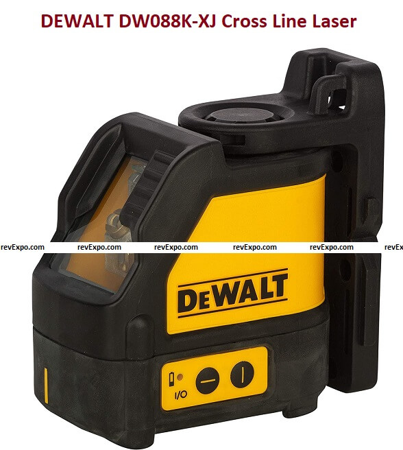 DEWALT DW088K-XJ Cross Line Laser for various leveling and layout applications (Red)