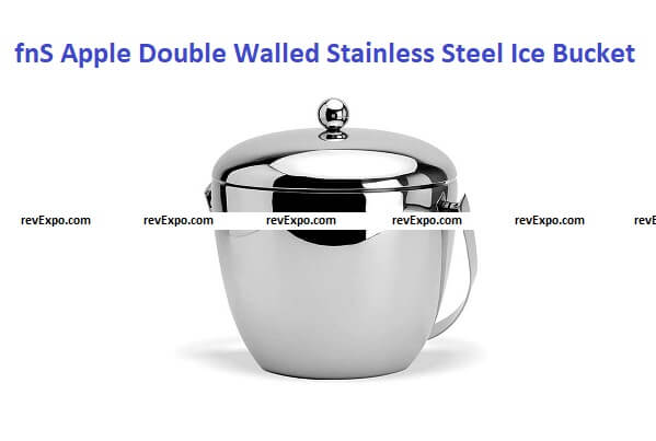 fnS Apple Double Walled Insulated Stainless Steel Ice Bucket