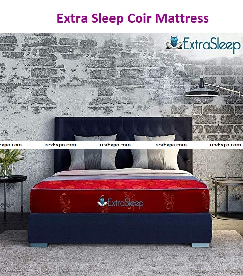 Extra Sleep Coir Mattress 5 Inch Back Support Orthopedic Care, Cotton Breathable Fabric, King Size