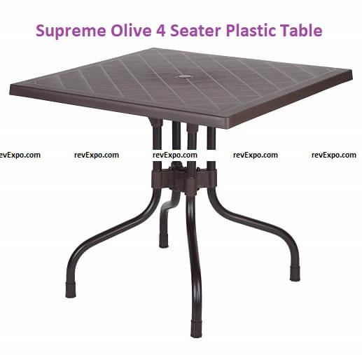 Supreme Olive 4 Seater Plastic Dining Table for Home