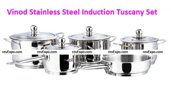 Vinod Stainless Steel Induction Friendly Tuscany Set