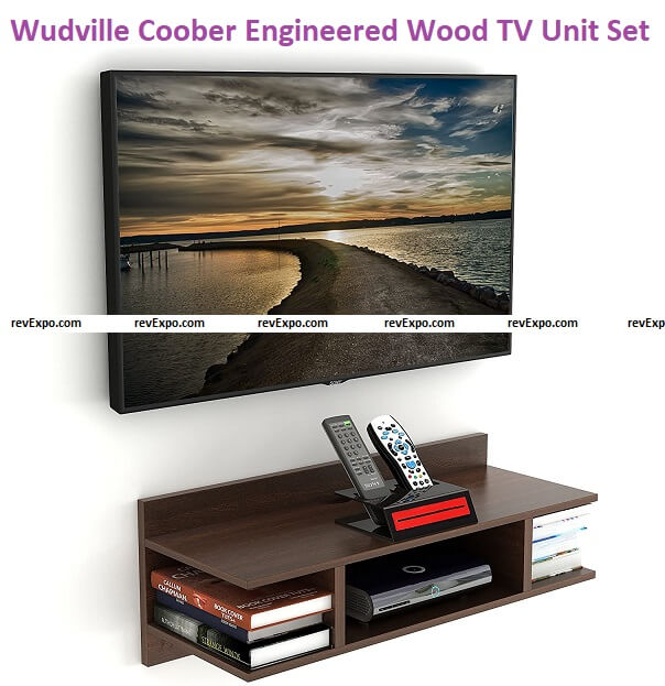 Wudville Coober Engineered Wood TV Entertainment Wall Unit