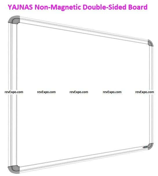 YAJNAS Non-Magnetic 1.5x2ft Double-Sided Board