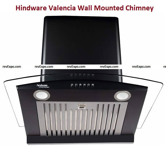 Hindware Valencia 60 cm Wall Mounted Chimney for Kitchen