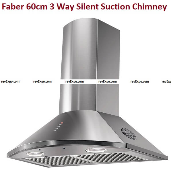 Faber60cm 3 Way Silent Suction Chimneys