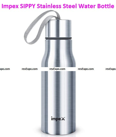Impex SIPPY- 500 Stainless Steel Water Bottle Combo