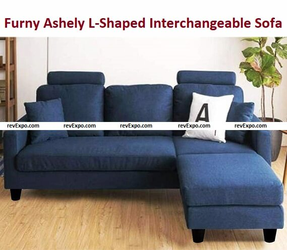 Furny Ashely 3+1 Ottoman 4 Seater L-Shaped Interchangeable Sofa