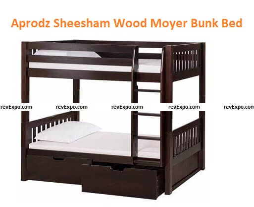Aprodz Sheesham Wood Moyer Bunk Bed with Storage for Bedroom