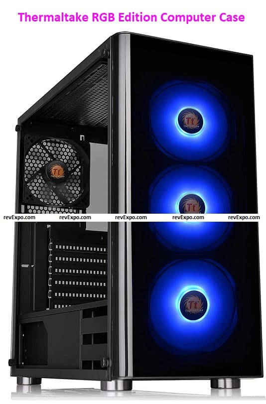 Thermaltake V200 Tempered Glass RGB Edition 12 V MB Sync Capable Computer Case
