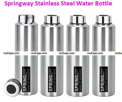 Springway Brand of Happiness Eco-Neer Stainless Steel Water Bottle
