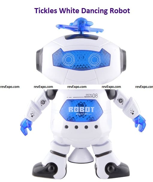Tickles White Dancing Robot