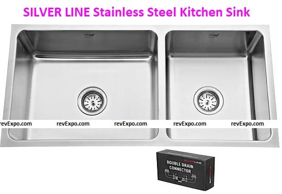 SILVER LINE Low Radius Double Bowl Stainless Steel 304 Grade Kitchen Sink