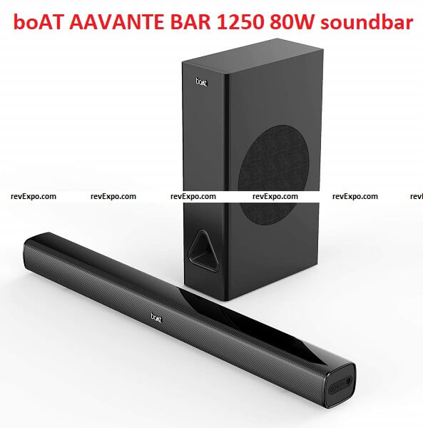 boAT AAVANTE BAR 1250 80W soundbar with wired subwoofer