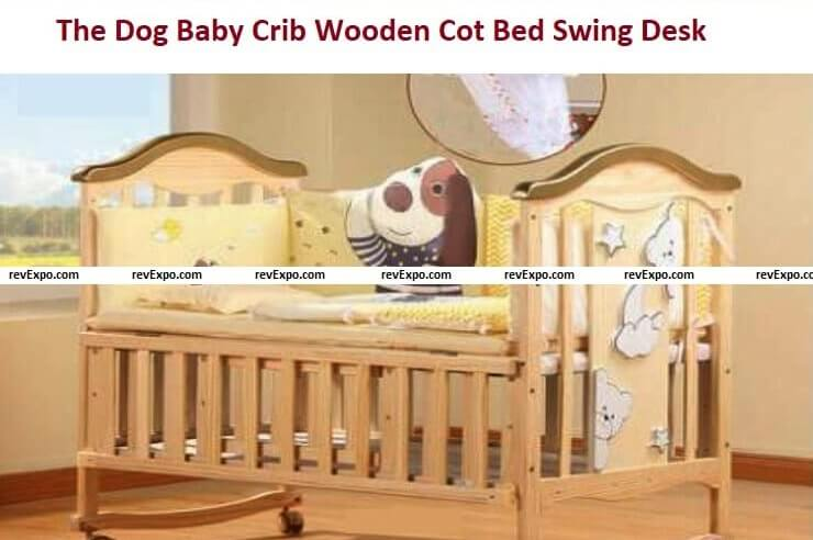 The Dog Baby Crib Wooden Cot Bed