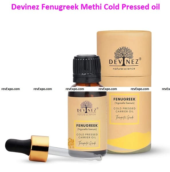 Methi Cold Pressed Oil, 15 ml in Glass Bottle, 100% Pure