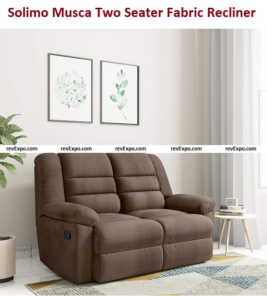 Amazon Brand - Solimo Musca Two Seater Fabric Recliner