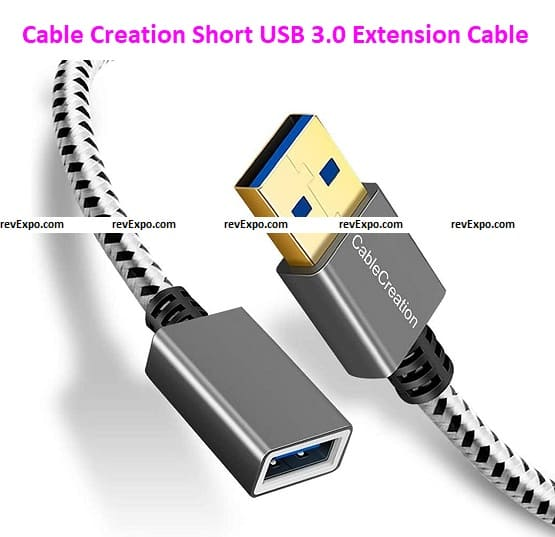 Cable Creation Short USB 3.0 Extension Cable