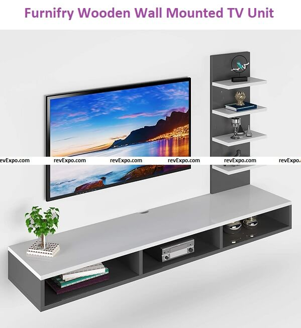 Furnifry Wooden Wall Mounted TV Unit, TV Cabinet for Wall