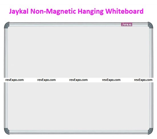 Jaykal Non-Magnetic Hanging Whiteboard and Greenboard Double-Sided Board