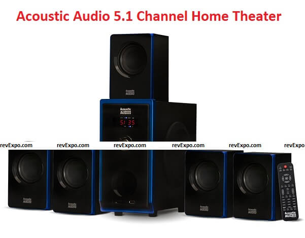 Acoustic Audio AA5102 800W 5.1 Channel Home Theater Speaker System
