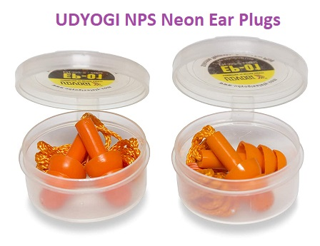 UDYOGI NPS Neon Products Reusable Soft Silicone Noise ReductionCorded Ear Plugs