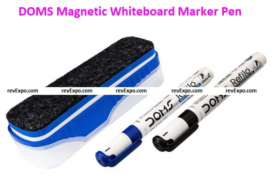 DOMS Magnetic Whiteboard Duster with 2 Whiteboard Marker