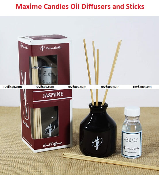 Maxime Candles Ceramic Jasmine Scented Reed