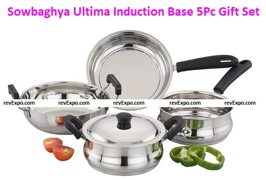 Sowbaghya Ultima Induction Base Stainless Steel 5Pc Gift Set