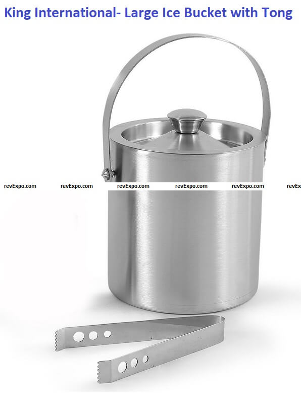 King International- Large Ice Bucket with Tong