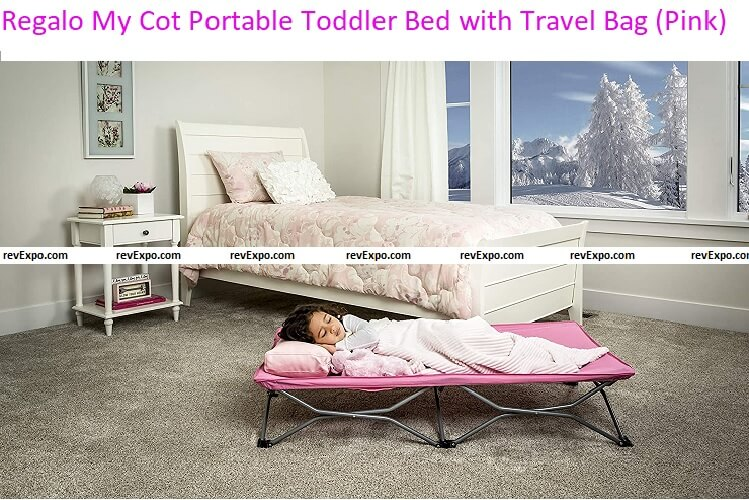 Regalo My Cot Portable Toddler Bed with Travel Bag