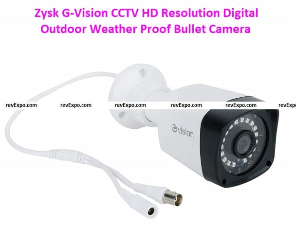 Zysk G-Vision CCTV 1080P 2.4 Mp HD Resolution Digital Outdoor Weather Proof Bullet Camera with Day & Night Vision with IR Range 20 Meter