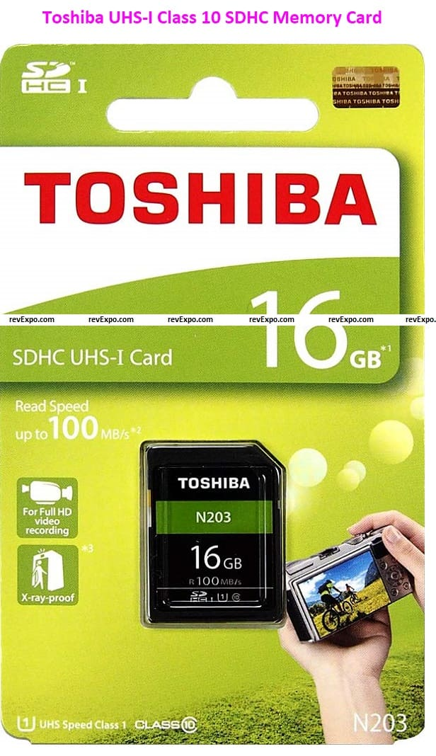 Toshiba UHS-I Class 10 SDHC Memory Card (Read Speed Up to 100 MB/s)