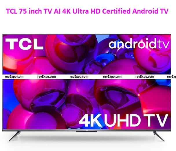 TCL 75 inch TV AI 4K Ultra HD Certified Android 75P715