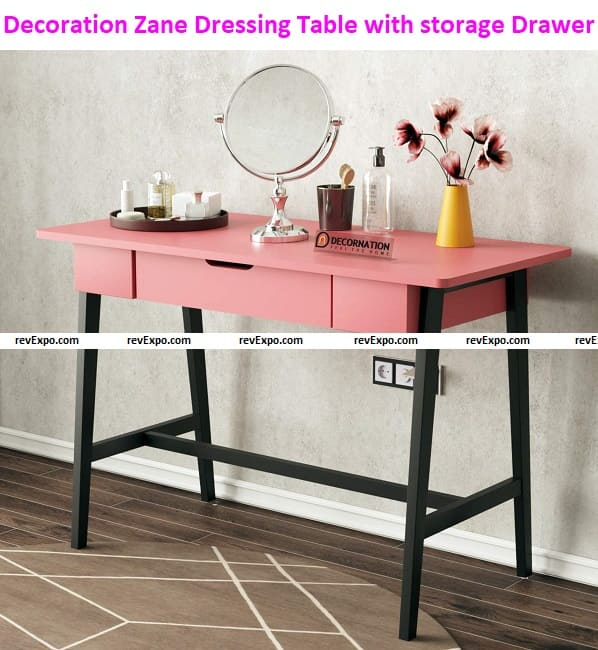 Decoration Zane Dressing Table, MDF Solid Wood Table with Storage Drawer for Home