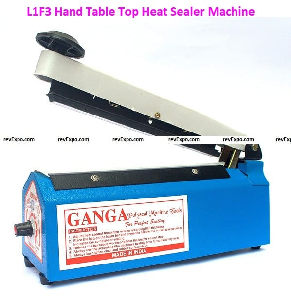 L1F3 Hand Table Top Heat Sealer Machine for Plastic Pouch Packing