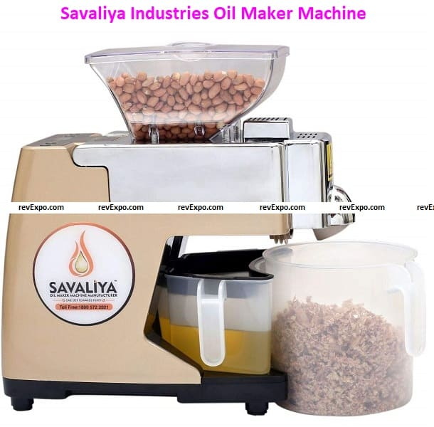 Savaliya Industries Stainless Steel and Plastic Oil Maker Machine and Cold Press Oil Machine