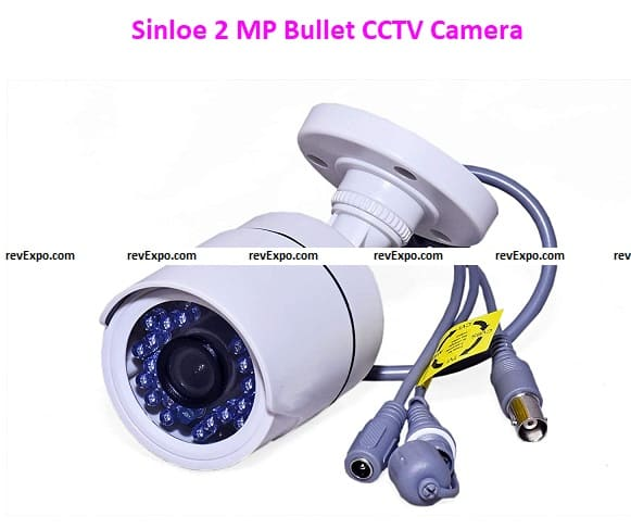 Sinloe 2 MP Bullet CCTV Camera Compatible with All DVRs HDCVI TVI CVBS and AHD, Weatherproof and Night Vision