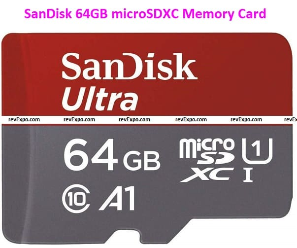 SanDisk 64GB Class 10 microSDXC Memory Card with Adapter (SDSQUAR-064G-GN6MA)