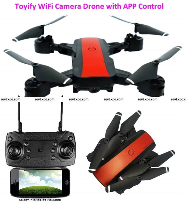 Toyify WiFi Camera Drone with APP Control and Remote Control (Flying time 10 - 14 Min) 480P Camera