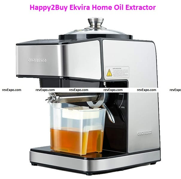 Happy2Buy Ekvira Stainless Steel Automatic Home Oil Extractor