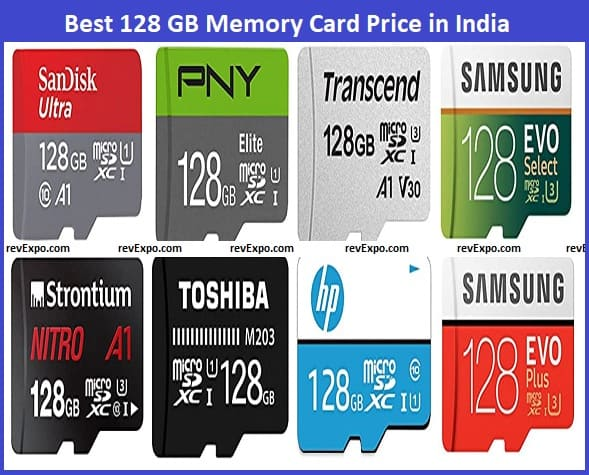 Best 128 GB Memory Card Price in India
